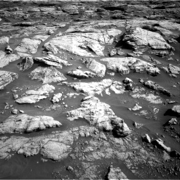 Nasa's Mars rover Curiosity acquired this image using its Right Navigation Camera on Sol 2570, at drive 970, site number 77