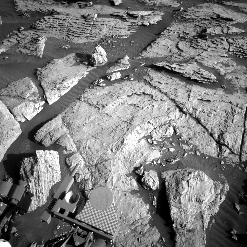 Nasa's Mars rover Curiosity acquired this image using its Right Navigation Camera on Sol 2570, at drive 1006, site number 77