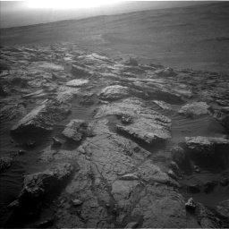 Nasa's Mars rover Curiosity acquired this image using its Left Navigation Camera on Sol 2572, at drive 1054, site number 77