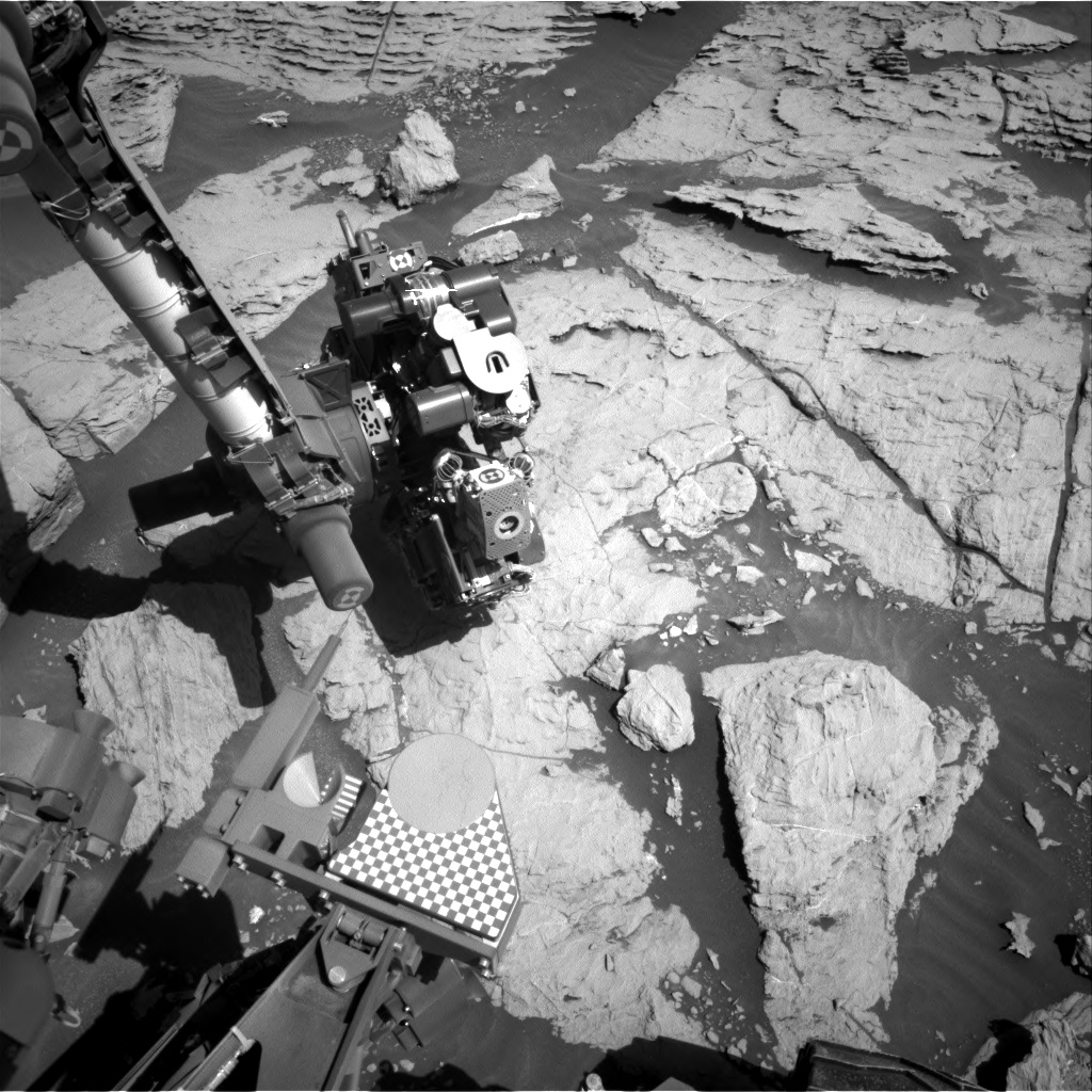 Nasa's Mars rover Curiosity acquired this image using its Right Navigation Camera on Sol 2572, at drive 1006, site number 77