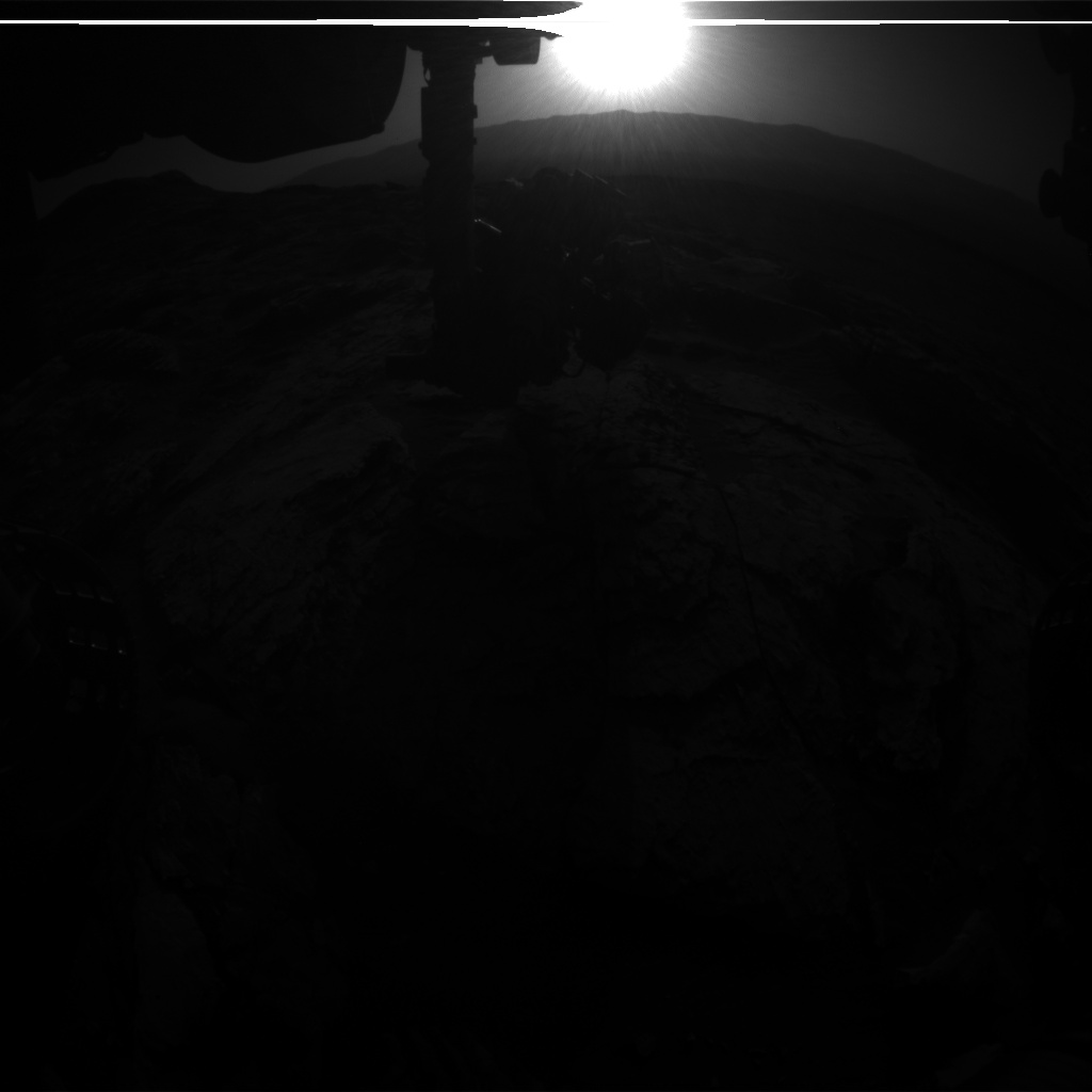 Nasa's Mars rover Curiosity acquired this image using its Front Hazard Avoidance Camera (Front Hazcam) on Sol 2574, at drive 1070, site number 77