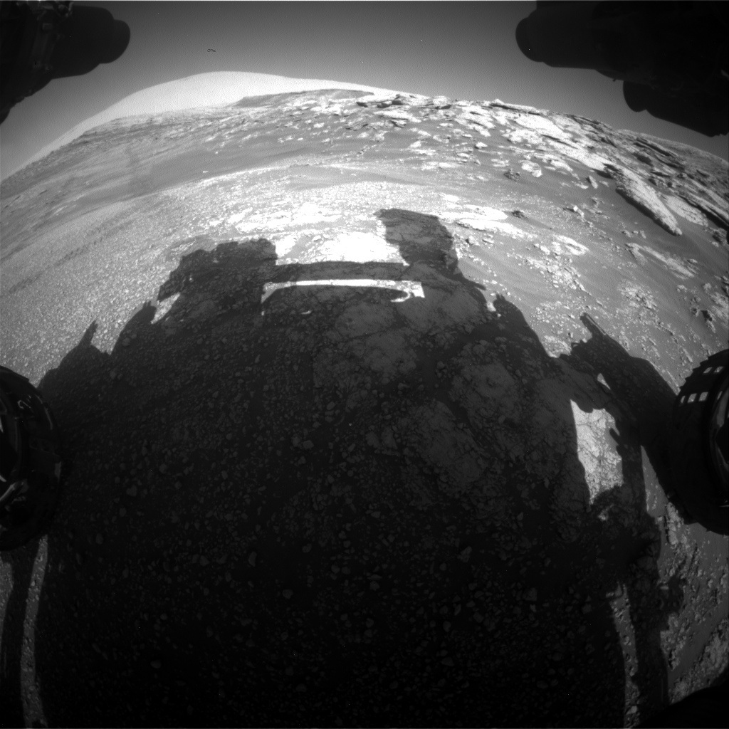 Nasa's Mars rover Curiosity acquired this image using its Front Hazard Avoidance Camera (Front Hazcam) on Sol 2575, at drive 1416, site number 77