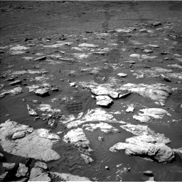 Nasa's Mars rover Curiosity acquired this image using its Left Navigation Camera on Sol 2575, at drive 1070, site number 77