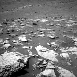 Nasa's Mars rover Curiosity acquired this image using its Left Navigation Camera on Sol 2575, at drive 1076, site number 77