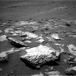 Nasa's Mars rover Curiosity acquired this image using its Left Navigation Camera on Sol 2575, at drive 1082, site number 77