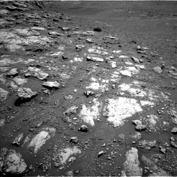 Nasa's Mars rover Curiosity acquired this image using its Left Navigation Camera on Sol 2575, at drive 1160, site number 77
