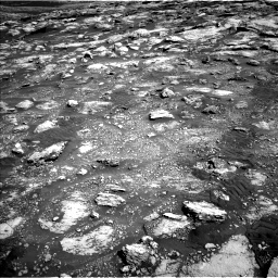 Nasa's Mars rover Curiosity acquired this image using its Left Navigation Camera on Sol 2575, at drive 1220, site number 77