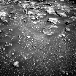 Nasa's Mars rover Curiosity acquired this image using its Left Navigation Camera on Sol 2575, at drive 1298, site number 77