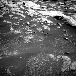 Nasa's Mars rover Curiosity acquired this image using its Left Navigation Camera on Sol 2575, at drive 1382, site number 77