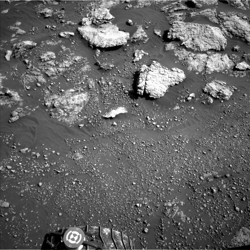 Nasa's Mars rover Curiosity acquired this image using its Left Navigation Camera on Sol 2575, at drive 1416, site number 77