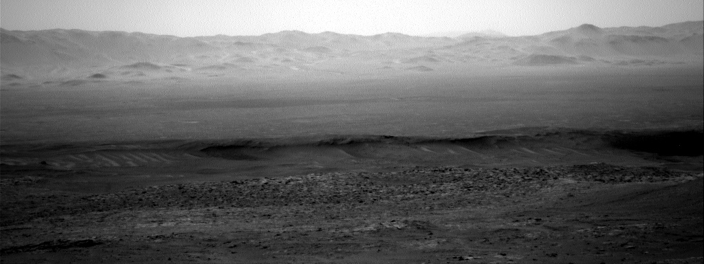 Nasa's Mars rover Curiosity acquired this image using its Right Navigation Camera on Sol 2575, at drive 1070, site number 77