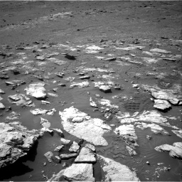 Nasa's Mars rover Curiosity acquired this image using its Right Navigation Camera on Sol 2575, at drive 1076, site number 77