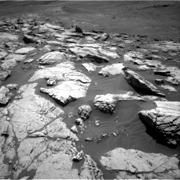Nasa's Mars rover Curiosity acquired this image using its Right Navigation Camera on Sol 2575, at drive 1094, site number 77