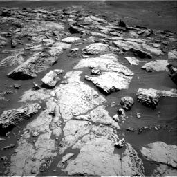 Nasa's Mars rover Curiosity acquired this image using its Right Navigation Camera on Sol 2575, at drive 1100, site number 77