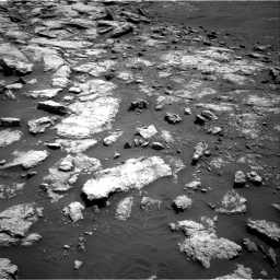 Nasa's Mars rover Curiosity acquired this image using its Right Navigation Camera on Sol 2575, at drive 1136, site number 77