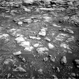 Nasa's Mars rover Curiosity acquired this image using its Right Navigation Camera on Sol 2575, at drive 1262, site number 77