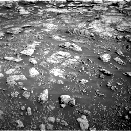 Nasa's Mars rover Curiosity acquired this image using its Right Navigation Camera on Sol 2575, at drive 1268, site number 77