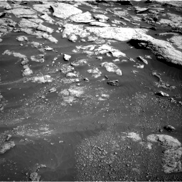 Nasa's Mars rover Curiosity acquired this image using its Right Navigation Camera on Sol 2575, at drive 1376, site number 77