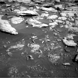 Nasa's Mars rover Curiosity acquired this image using its Right Navigation Camera on Sol 2575, at drive 1400, site number 77