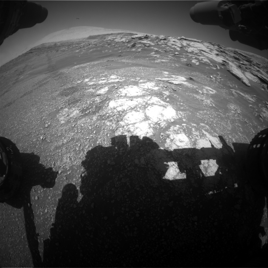 Nasa's Mars rover Curiosity acquired this image using its Front Hazard Avoidance Camera (Front Hazcam) on Sol 2576, at drive 1416, site number 77