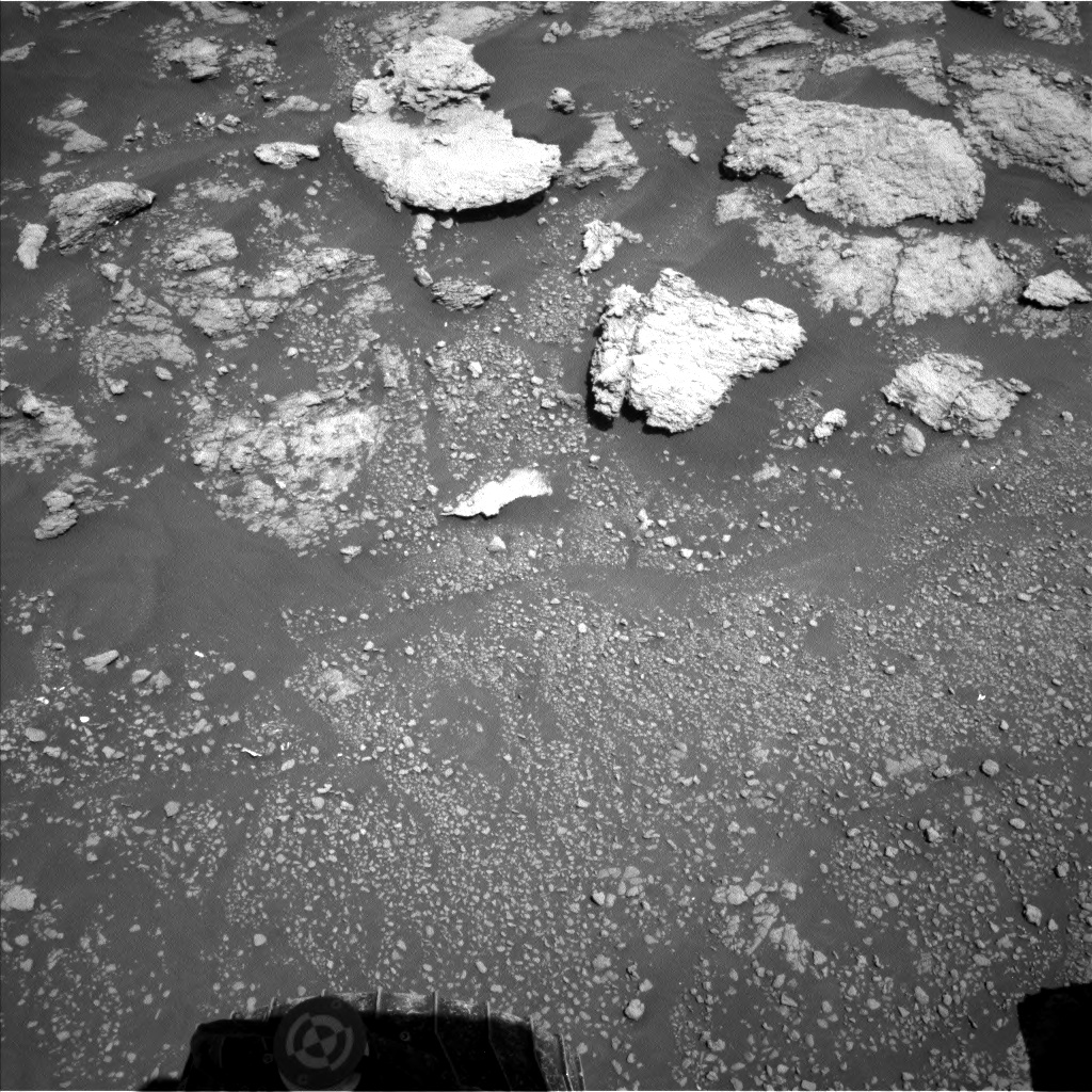 Nasa's Mars rover Curiosity acquired this image using its Left Navigation Camera on Sol 2576, at drive 1416, site number 77