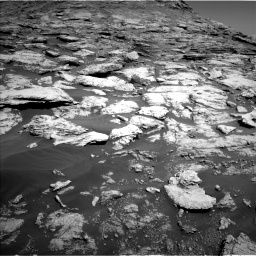Nasa's Mars rover Curiosity acquired this image using its Left Navigation Camera on Sol 2577, at drive 1416, site number 77