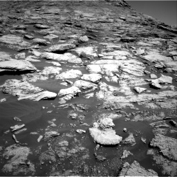 Nasa's Mars rover Curiosity acquired this image using its Right Navigation Camera on Sol 2577, at drive 1416, site number 77