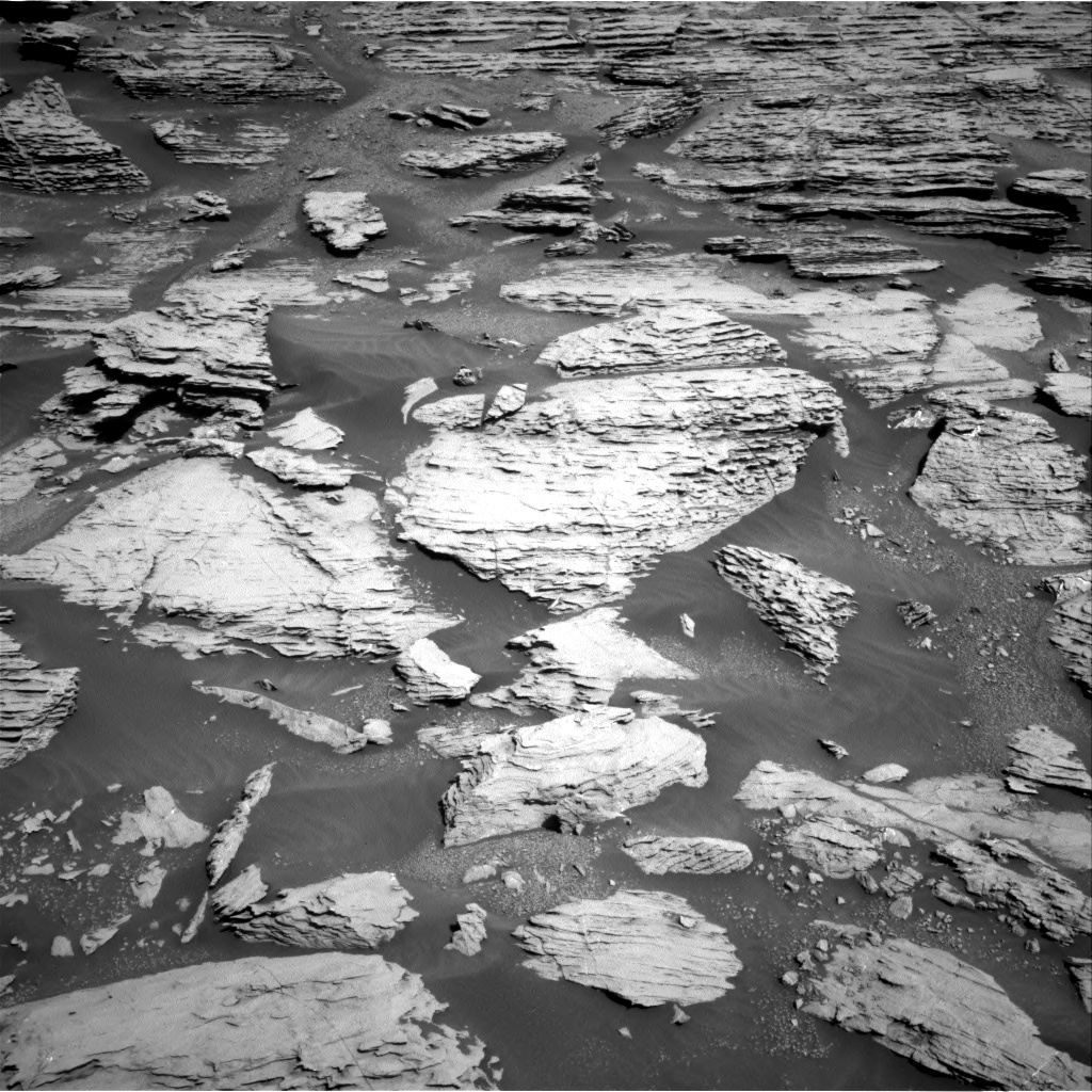Nasa's Mars rover Curiosity acquired this image using its Right Navigation Camera on Sol 2577, at drive 1524, site number 77