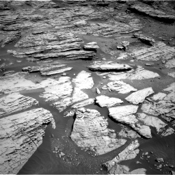 Nasa's Mars rover Curiosity acquired this image using its Right Navigation Camera on Sol 2577, at drive 1536, site number 77