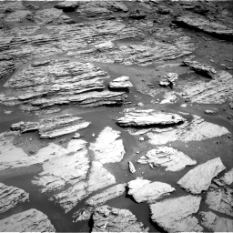 Nasa's Mars rover Curiosity acquired this image using its Right Navigation Camera on Sol 2577, at drive 1542, site number 77