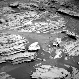 Nasa's Mars rover Curiosity acquired this image using its Right Navigation Camera on Sol 2577, at drive 1554, site number 77