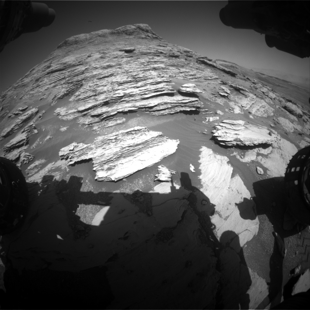 Nasa's Mars rover Curiosity acquired this image using its Front Hazard Avoidance Camera (Front Hazcam) on Sol 2578, at drive 1560, site number 77