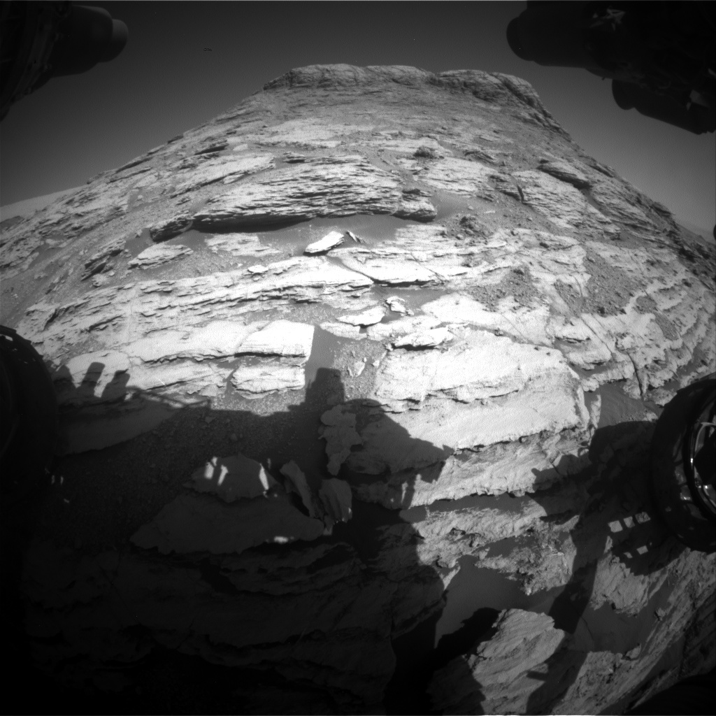 Nasa's Mars rover Curiosity acquired this image using its Front Hazard Avoidance Camera (Front Hazcam) on Sol 2582, at drive 1626, site number 77