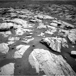 Nasa's Mars rover Curiosity acquired this image using its Right Navigation Camera on Sol 2582, at drive 1566, site number 77