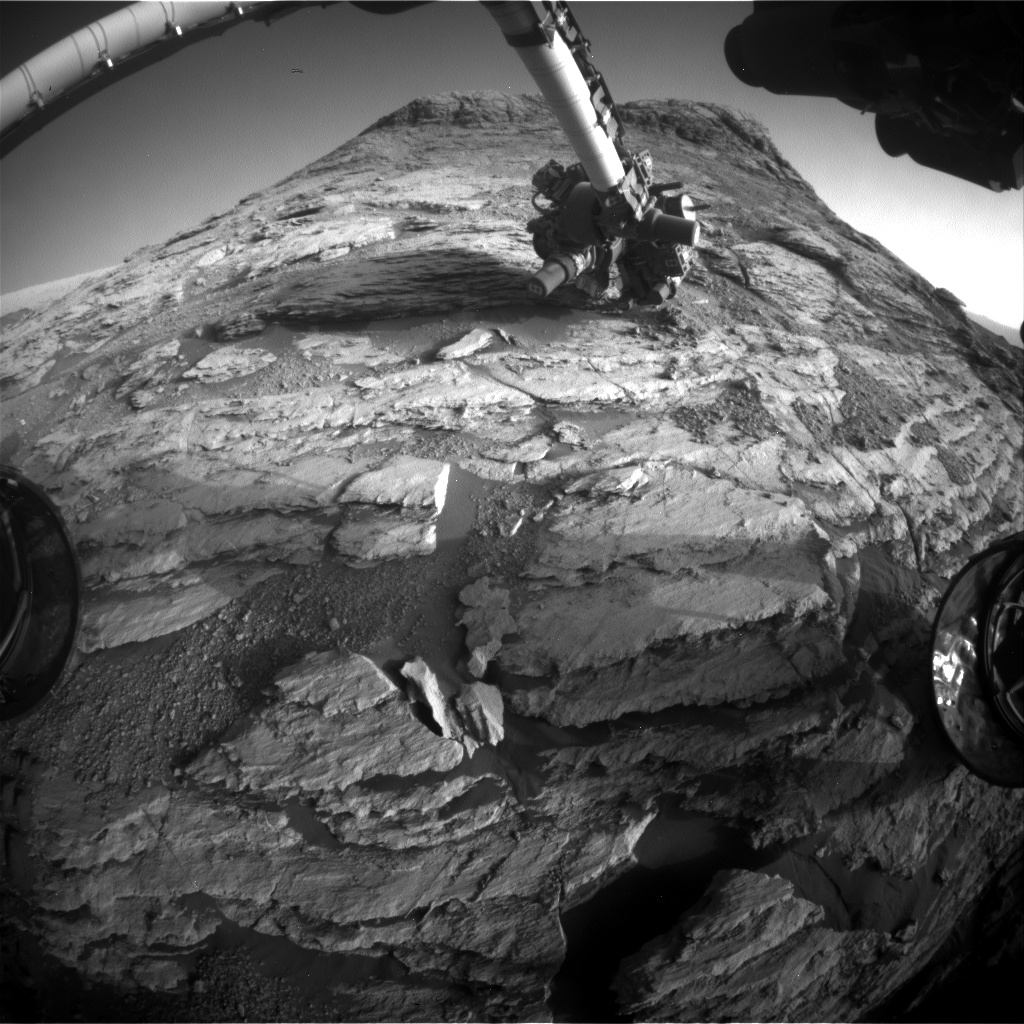 Nasa's Mars rover Curiosity acquired this image using its Front Hazard Avoidance Camera (Front Hazcam) on Sol 2583, at drive 1626, site number 77