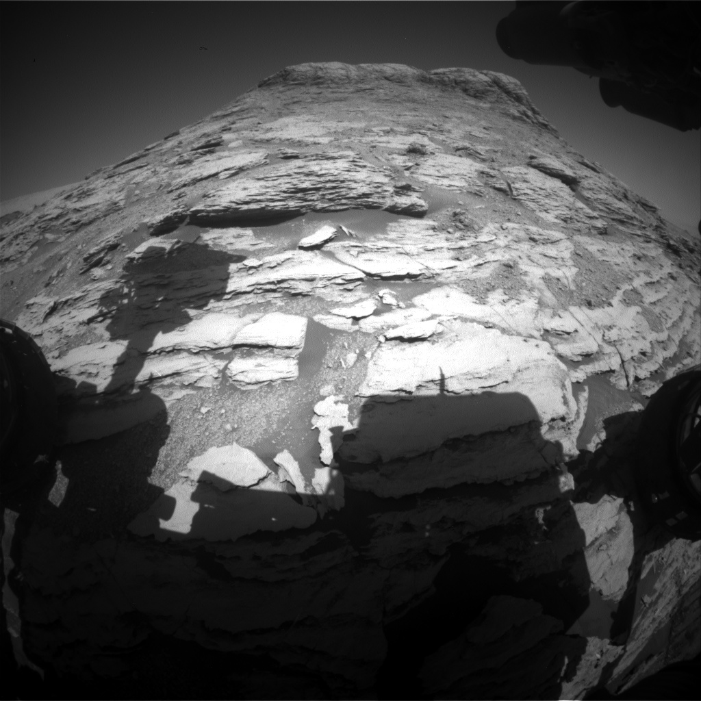 Nasa's Mars rover Curiosity acquired this image using its Front Hazard Avoidance Camera (Front Hazcam) on Sol 2584, at drive 1626, site number 77