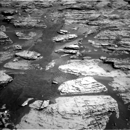 Nasa's Mars rover Curiosity acquired this image using its Left Navigation Camera on Sol 2586, at drive 1668, site number 77