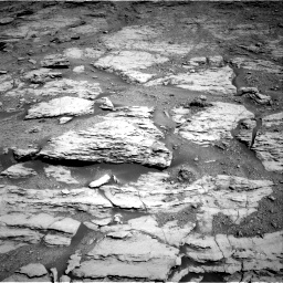 Nasa's Mars rover Curiosity acquired this image using its Right Navigation Camera on Sol 2586, at drive 1632, site number 77