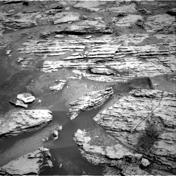 Nasa's Mars rover Curiosity acquired this image using its Right Navigation Camera on Sol 2586, at drive 1650, site number 77