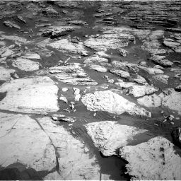 Nasa's Mars rover Curiosity acquired this image using its Right Navigation Camera on Sol 2586, at drive 1698, site number 77