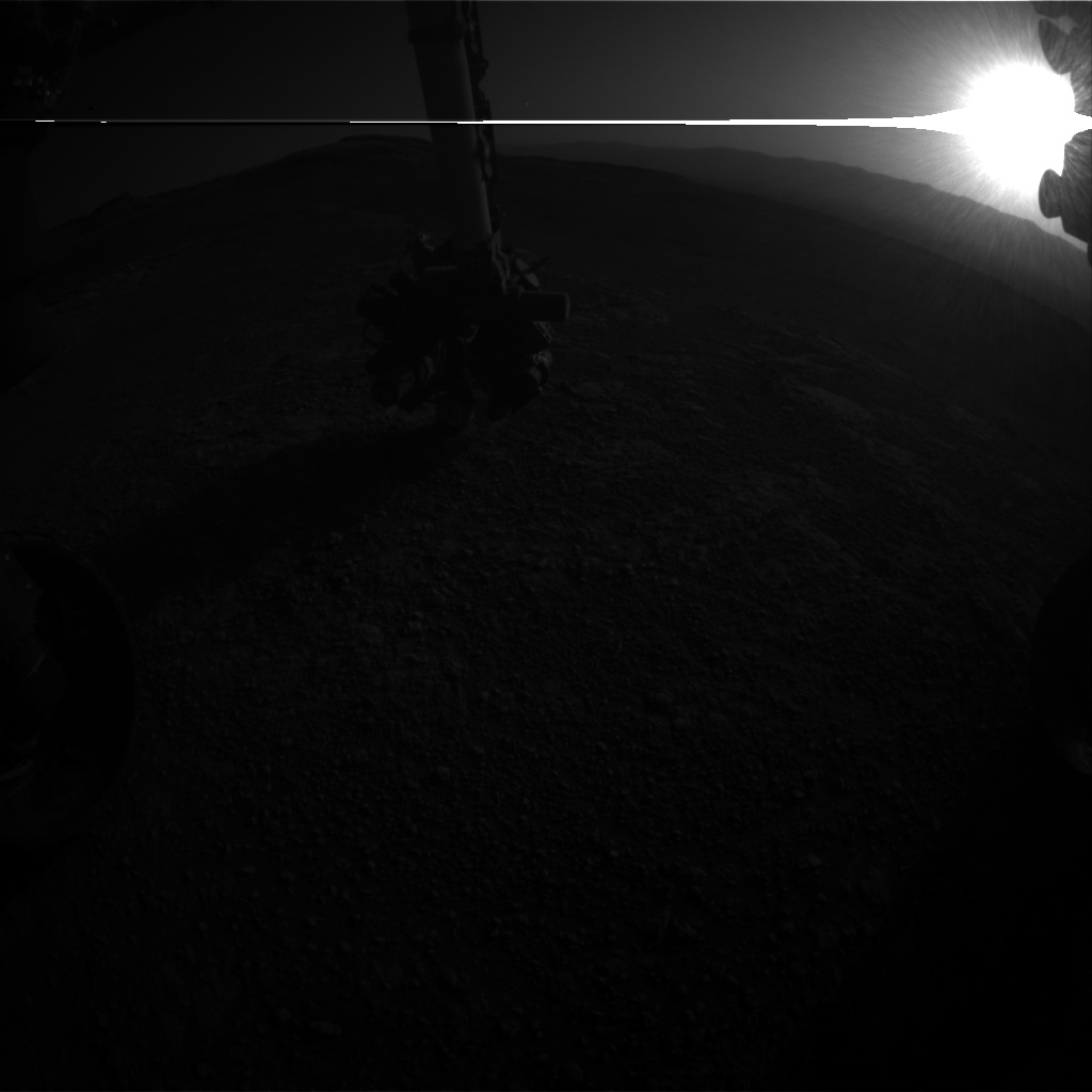 Nasa's Mars rover Curiosity acquired this image using its Front Hazard Avoidance Camera (Front Hazcam) on Sol 2587, at drive 1926, site number 77