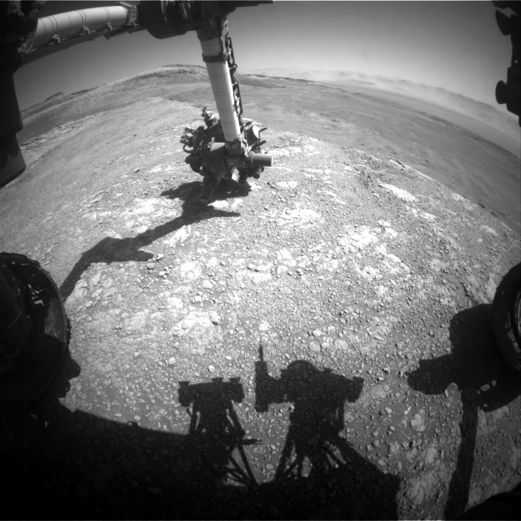 Nasa's Mars rover Curiosity acquired this image using its Front Hazard Avoidance Camera (Front Hazcam) on Sol 2588, at drive 1926, site number 77
