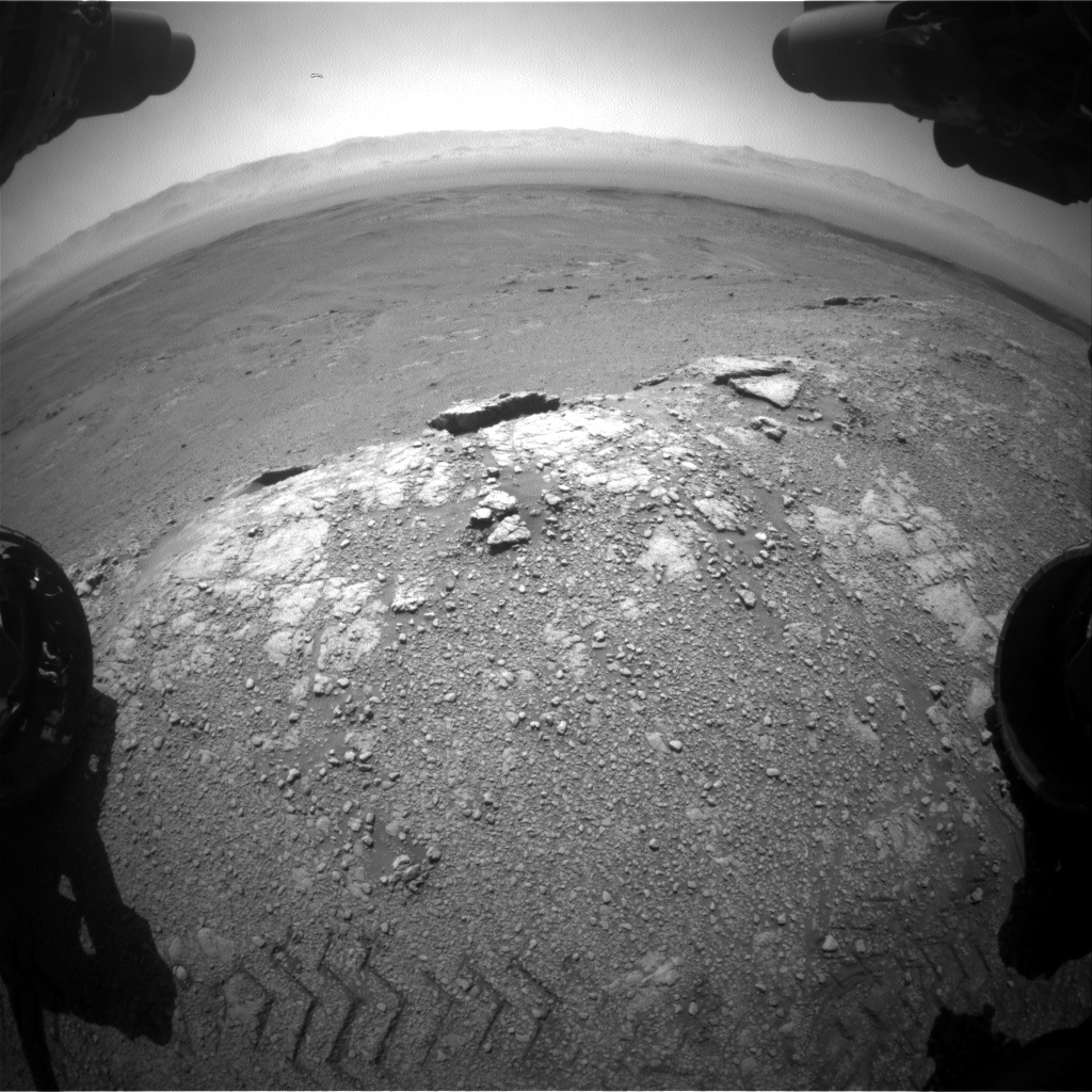Nasa's Mars rover Curiosity acquired this image using its Front Hazard Avoidance Camera (Front Hazcam) on Sol 2589, at drive 2038, site number 77