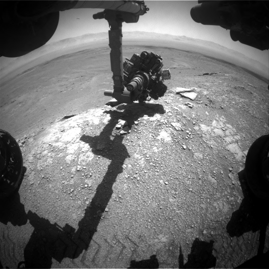 Nasa's Mars rover Curiosity acquired this image using its Front Hazard Avoidance Camera (Front Hazcam) on Sol 2590, at drive 2038, site number 77