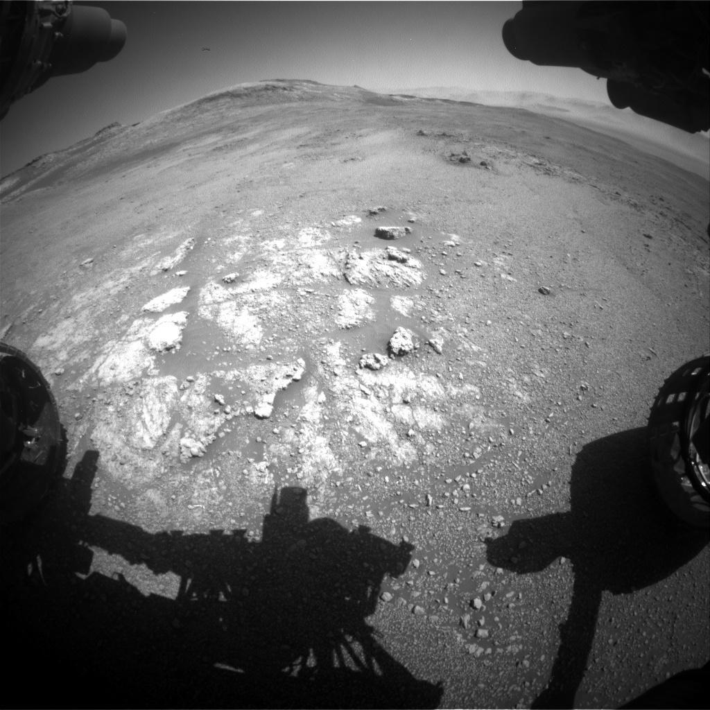 Nasa's Mars rover Curiosity acquired this image using its Front Hazard Avoidance Camera (Front Hazcam) on Sol 2590, at drive 2254, site number 77