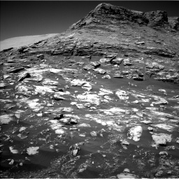 Nasa's Mars rover Curiosity acquired this image using its Left Navigation Camera on Sol 2590, at drive 2086, site number 77