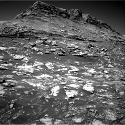Nasa's Mars rover Curiosity acquired this image using its Right Navigation Camera on Sol 2590, at drive 2080, site number 77