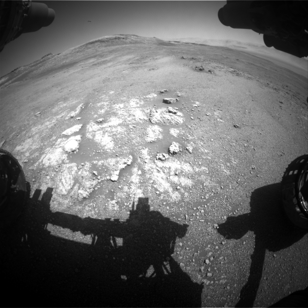 Nasa's Mars rover Curiosity acquired this image using its Front Hazard Avoidance Camera (Front Hazcam) on Sol 2591, at drive 2254, site number 77