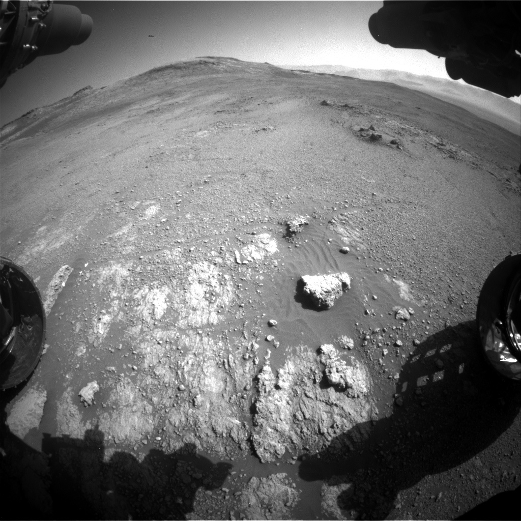 Nasa's Mars rover Curiosity acquired this image using its Front Hazard Avoidance Camera (Front Hazcam) on Sol 2592, at drive 2278, site number 77