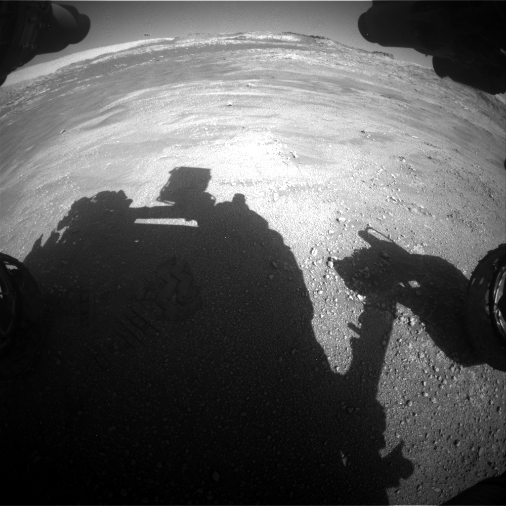Nasa's Mars rover Curiosity acquired this image using its Front Hazard Avoidance Camera (Front Hazcam) on Sol 2593, at drive 2540, site number 77